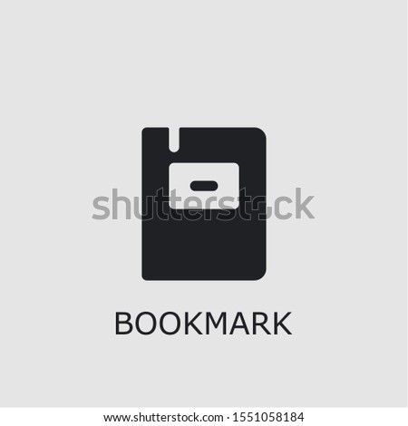 Professional vector bookmark icon. Bookmark symbol that can be used for any platform and purpose. High quality bookmark illustration.