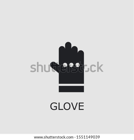 Professional vector glove icon. Glove symbol that can be used for any platform and purpose. High quality glove illustration.