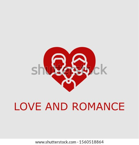 Professional vector love and romance icon. Love and romance symbol that can be used for any platform and purpose. High quality love and romance illustration.