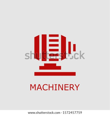 Professional vector machinery icon. Machinery symbol that can be used for any platform and purpose. High quality machinery illustration.