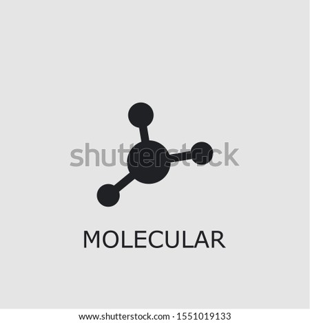Professional vector molecular icon. Molecular symbol that can be used for any platform and purpose. High quality molecular illustration.