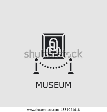Professional vector museum icon. Museum symbol that can be used for any platform and purpose. High quality museum illustration.