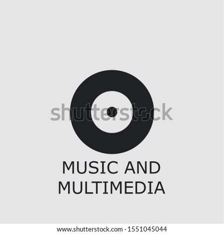 Professional vector music and multimedia icon. Music and multimedia symbol that can be used for any platform and purpose. High quality music and multimedia illustration.
