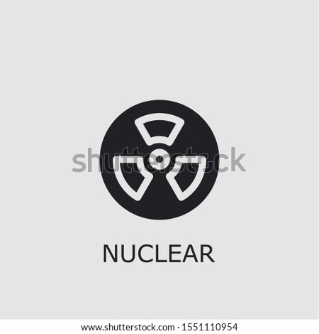 Professional vector nuclear icon. Nuclear symbol that can be used for any platform and purpose. High quality nuclear illustration.