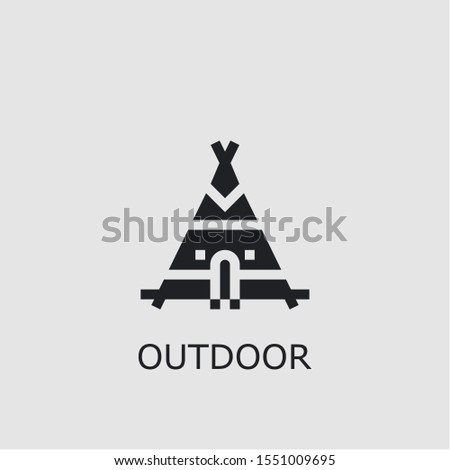 Professional vector outdoor icon. Outdoor symbol that can be used for any platform and purpose. High quality outdoor illustration.