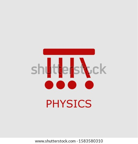 Professional vector physics icon. Physics symbol that can be used for any platform and purpose. High quality physics illustration.