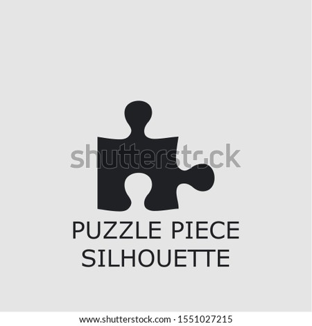 Professional vector puzzle piece silhouette icon. Puzzle piece silhouette symbol that can be used for any platform and purpose. High quality puzzle piece silhouette illustration.