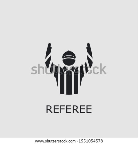 Professional vector referee icon. Referee symbol that can be used for any platform and purpose. High quality referee illustration.