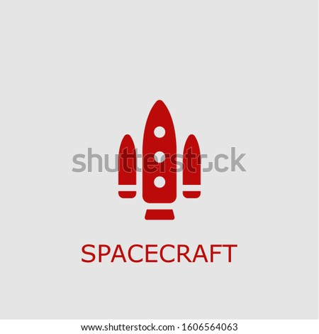 Professional vector spacecraft icon. Spacecraft symbol that can be used for any platform and purpose. High quality spacecraft illustration.