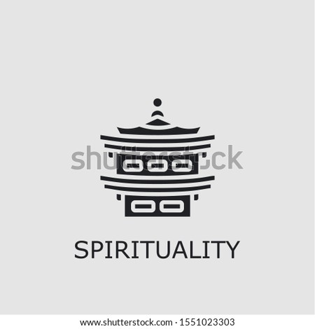 Professional vector spirituality icon. Spirituality symbol that can be used for any platform and purpose. High quality spirituality illustration.