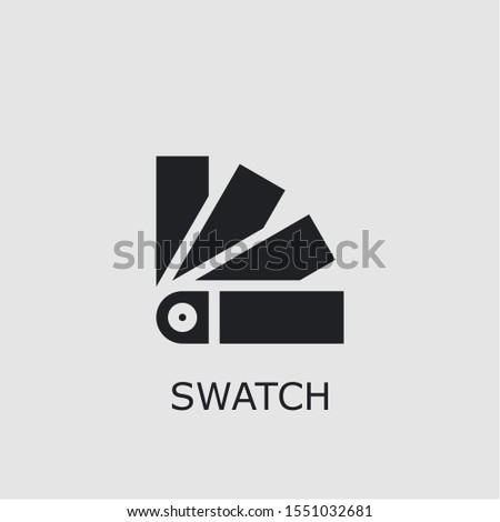 Professional vector swatch icon. Swatch symbol that can be used for any platform and purpose. High quality swatch illustration.
