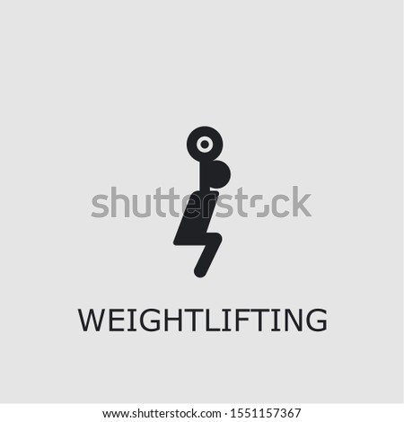 Professional vector weightlifting icon. Weightlifting symbol that can be used for any platform and purpose. High quality weightlifting illustration.