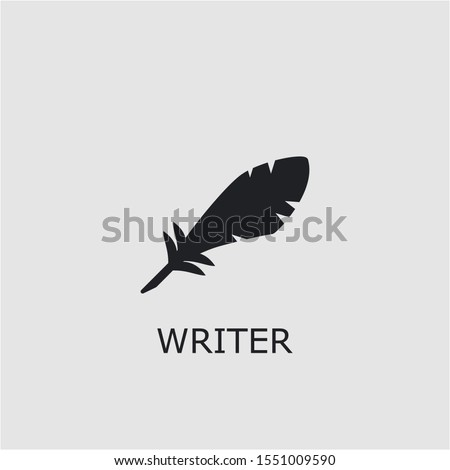 Professional vector writer icon. Writer symbol that can be used for any platform and purpose. High quality writer illustration.
