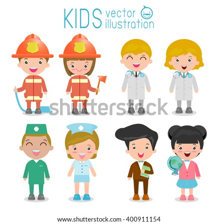 professions for kids set of