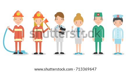 professions for  people  set of