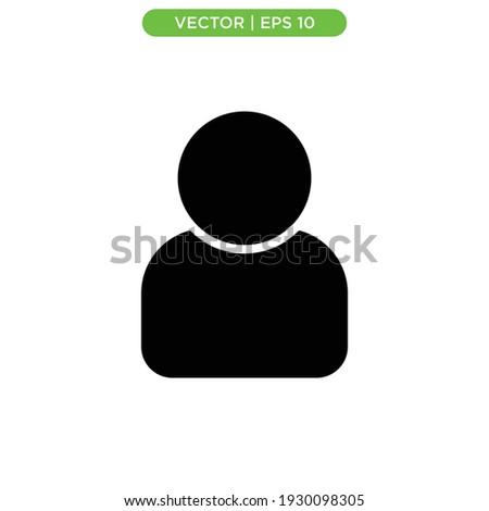 profile flat icon vector illustration