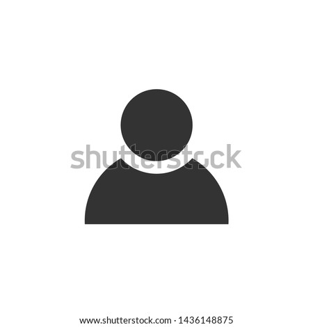 profile icon vector isolated on