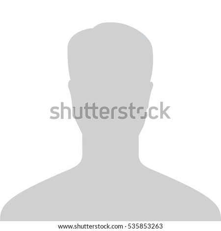 Profile Placeholder. Male Default Profile. Gray Person Picture Isolated On White Background. Good Man Head Profile Placeholder For Your User Web Design. Minimal Flat Symbol. Vector illustration