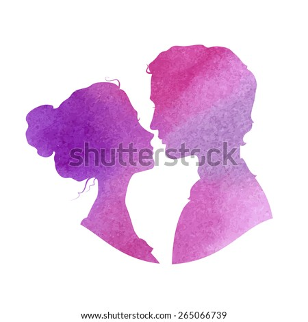 profile silhouettes of man and