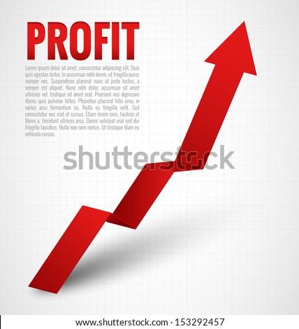 Profit Graph Arrow