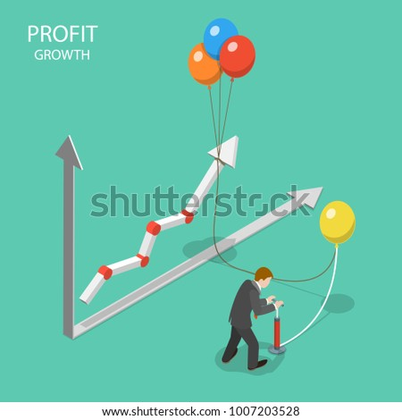 profit growth flat isometric