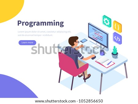 programmer at work concept...