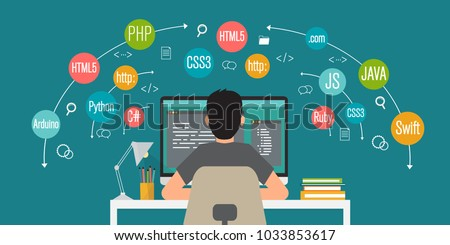 programming banner  coding ...