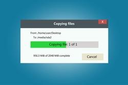 Progress bar of file copying