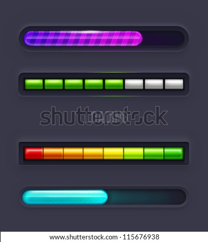 Progress bars. Vector