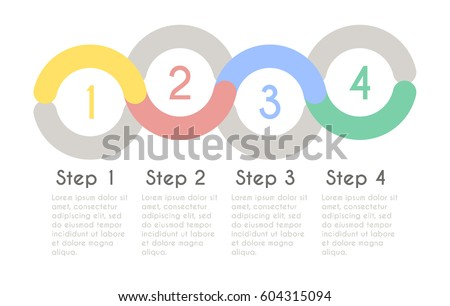 Progress chart statistic concept. Business flow process diagram. Infographic vector template for presentation. Timeline statistical chart.