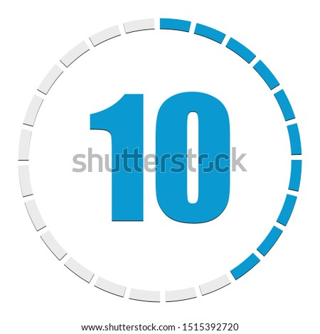 Progress, completion, step indicator. Segmented circle as duration, sequence, steps infographics element. Circular chart, graph. Diagram from 1-24 sections.