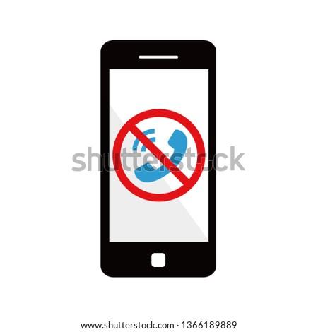 Prohibit phone calls. Foto d'archivio ©