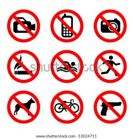 prohibit sign vector