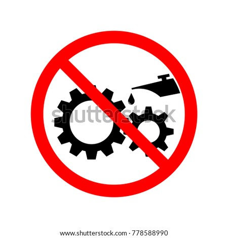 prohibited sing with gear. Symbol, illustration