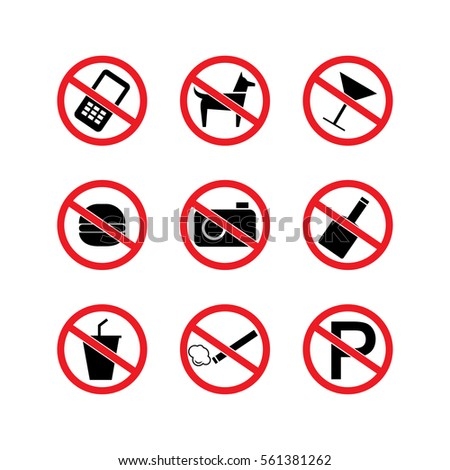 prohibited vector signs vector