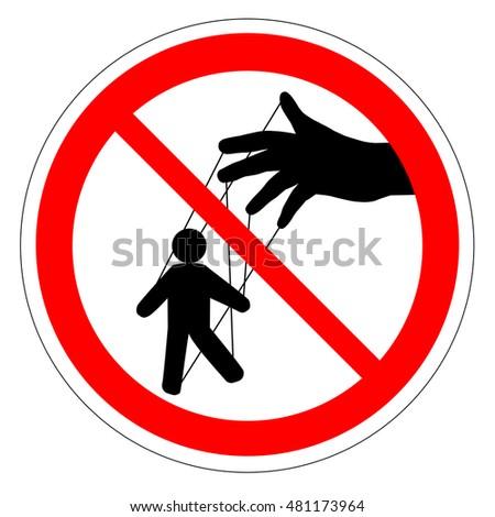 prohibiting round road sign