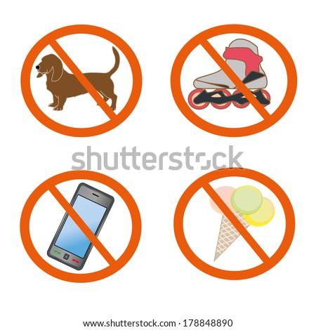 prohibiting symbols