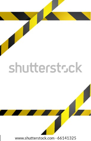 Prohibition line. Warning tape isolated on white