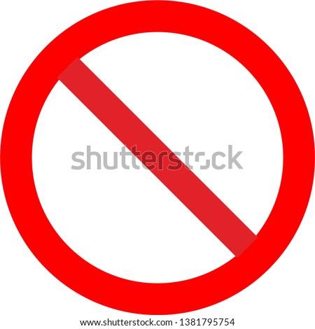 Prohibition no symbol vector illustration Foto stock ©