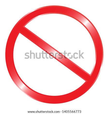 Prohibition no symbol vector illustration #1405566773