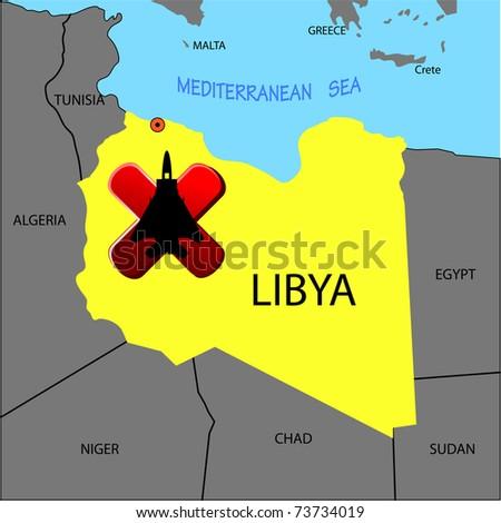 Prohibition of flights of planes over Libya