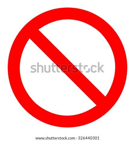 Prohibition Sign Template Foto stock ©