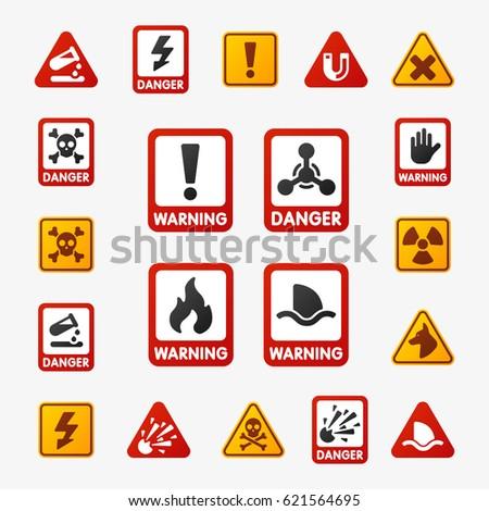 science danger symbols