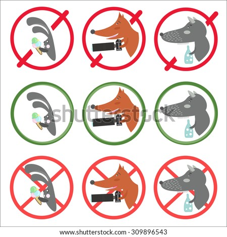 prohibitory signs and allow for
