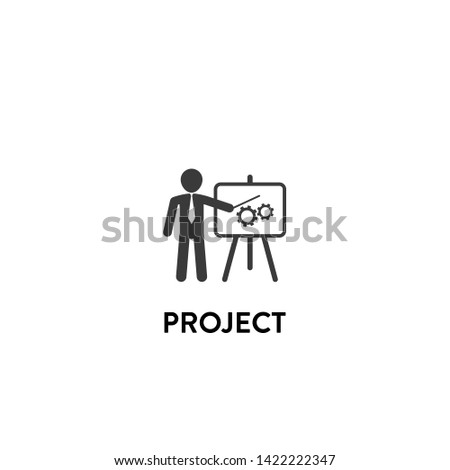 project icon vector. project vector graphic illustration