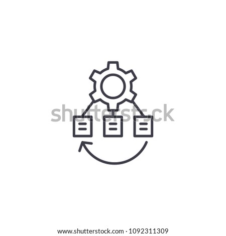 Project infrastructure linear icon concept. Project infrastructure line vector sign, symbol, illustration.