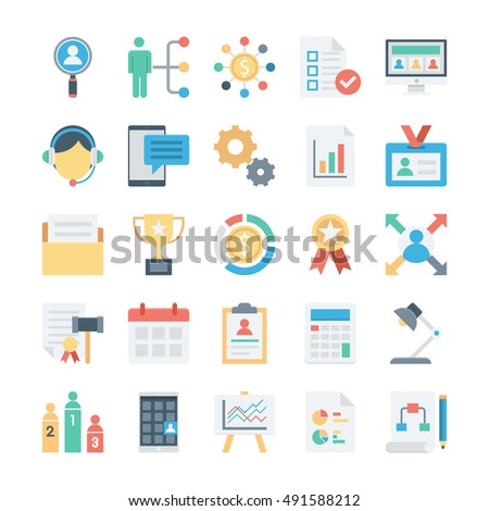 Project Management Colored Vector Icons 2 Foto stock ©