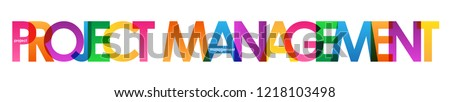 PROJECT MANAGEMENT colorful letters banner
