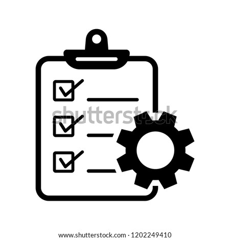 Project management icon. Vector illustration