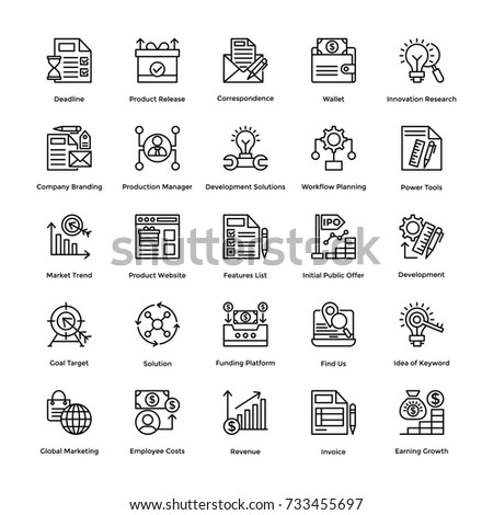 Project Management Vector Icons Set 19